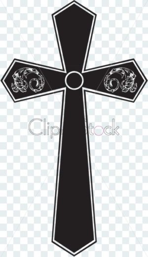 cross with ornament - ClipartStock